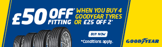 Free Fitting Promotion Goodyear